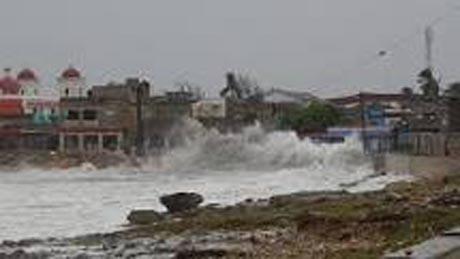 Azote del huracán Irma en Gibara