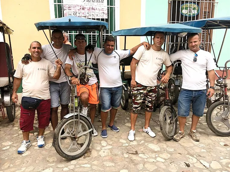 The bicitaxi team