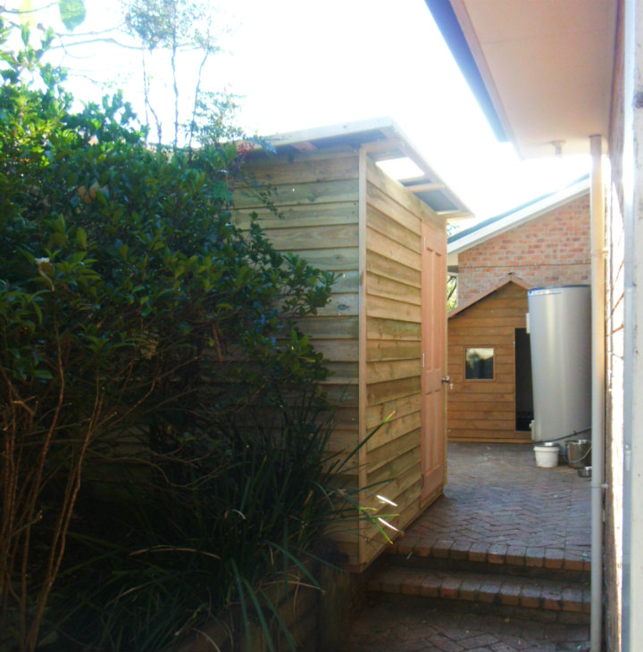 shed 2.4m x 2.4m, hardwood door $2020