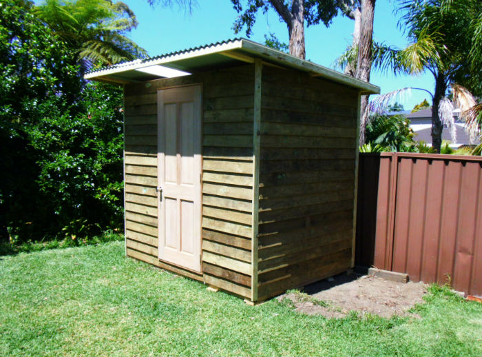 shed 2.4m x 1.8m, hardwood door $1695