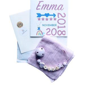 geschenkset personalisiertes lied nuggikette nuschi hellrosa min Kopie