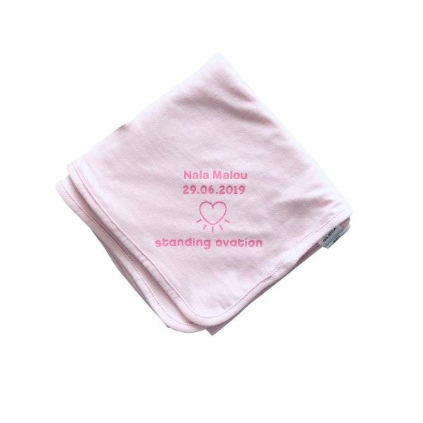 cuBe-box Babygeschenke nuscheli rosa personalisiert