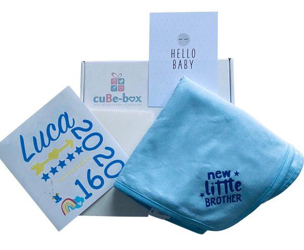 personalisiertes lied kuscheldecke box hellblau