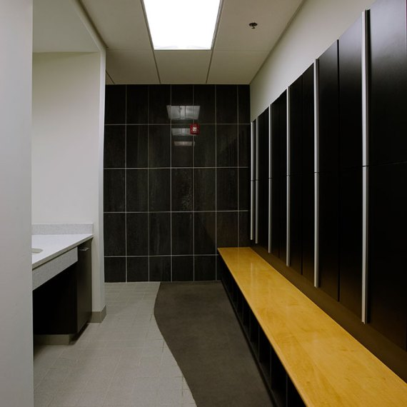 Marlborough Technology Park Corporate Fitness Center locker rooms in Malborough, MA