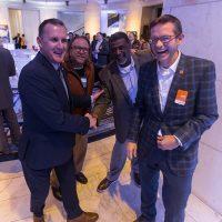 From left: Nik Middleton (CUBE3 CEO/Partner), Roger Phillips (Texla Housing Partners), Warren Burke (Campus Apartments), Brian O'Connor (CUBE3 Partner)