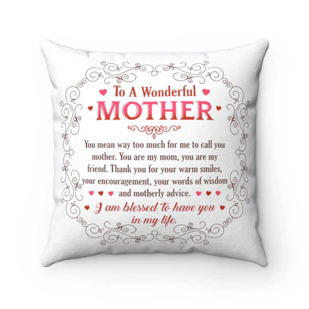 to my mother you mean so much to me throw pillow decorative pillow indoor cushion sofa home decor