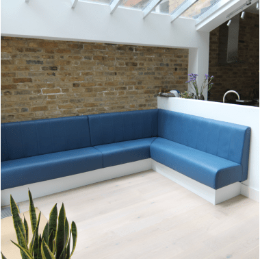 Sewn Fluted Back Fixed Bench Seating Bench Seating