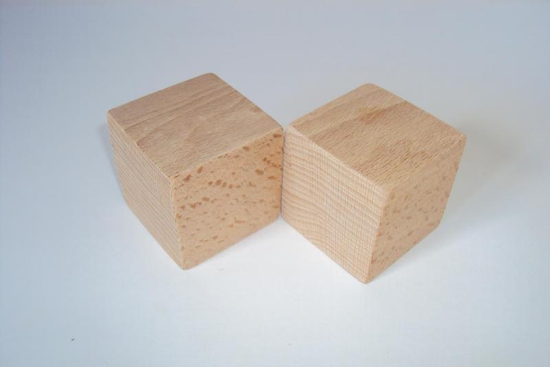 Cube En Bois 5 Cm