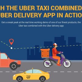 taxi with delivery app