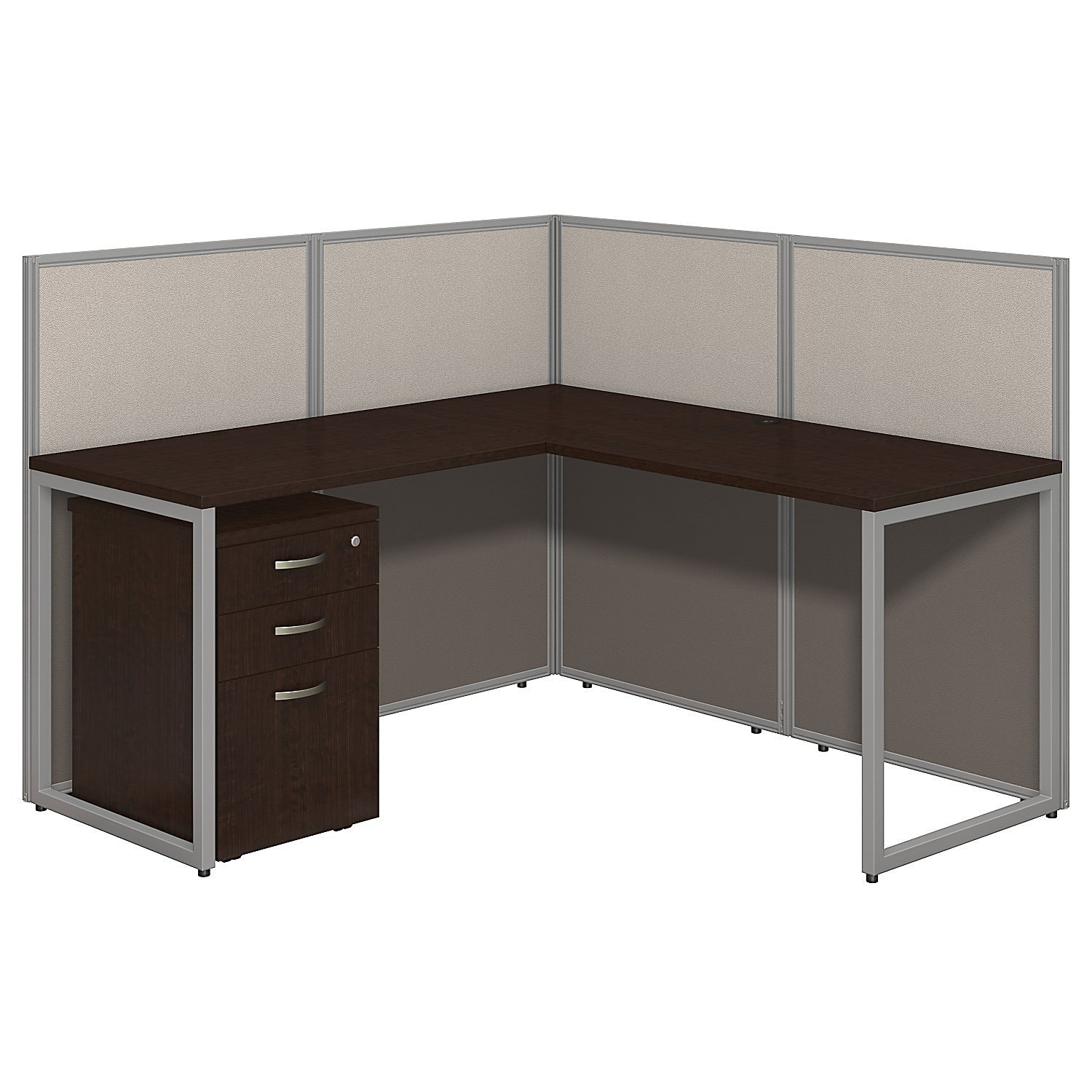 Ez Work Cubicle For 1 L Shape Cubicle Workstation With Storage 60x60