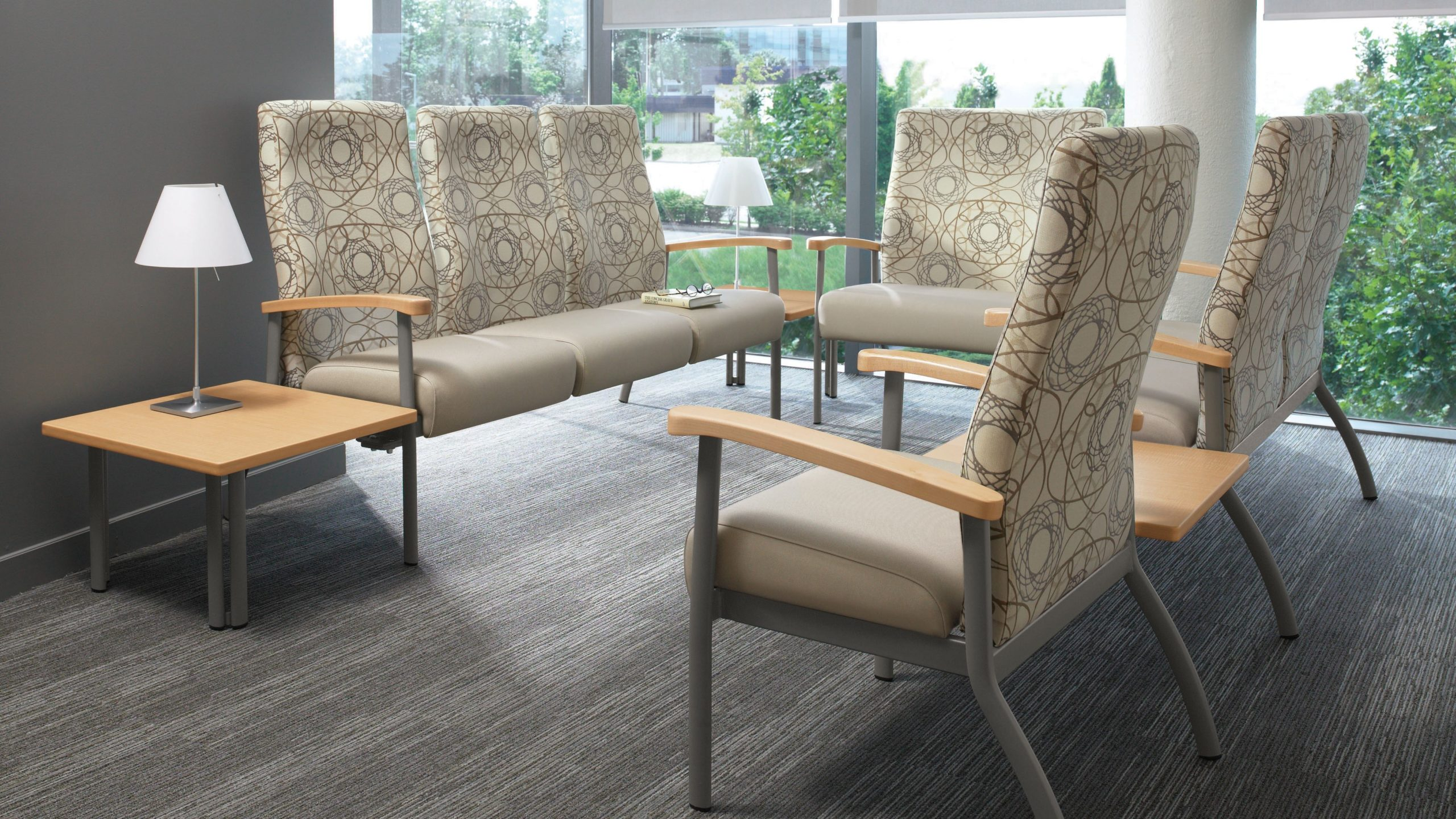 GC Belong chair with contoured back.