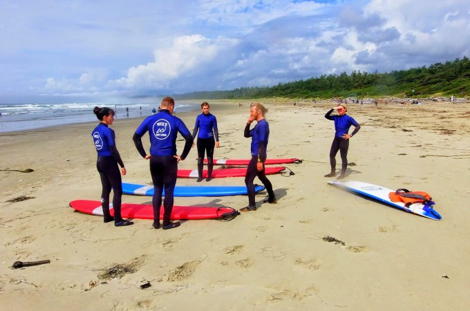Surfing in Ucluelet, BC with Wick'd Surf Camps