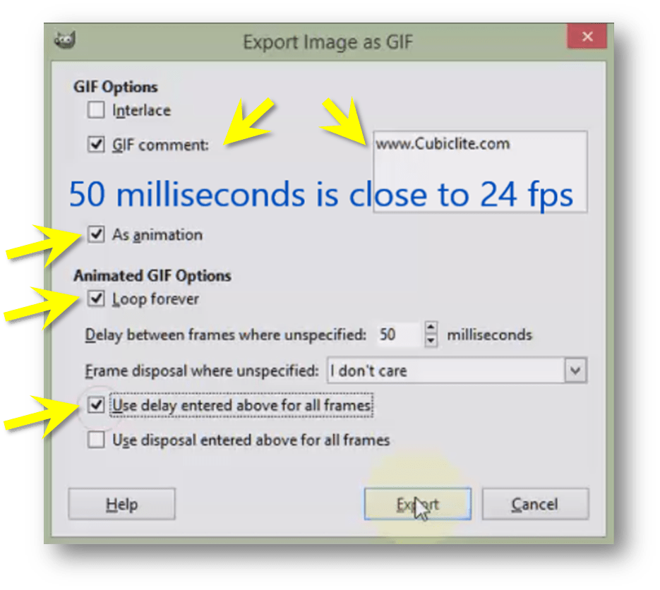 How To Create An Animated GIF From An Image Sequence Using GIMP ...