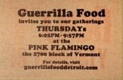 Guerrilla Food at the Pink Flamingo