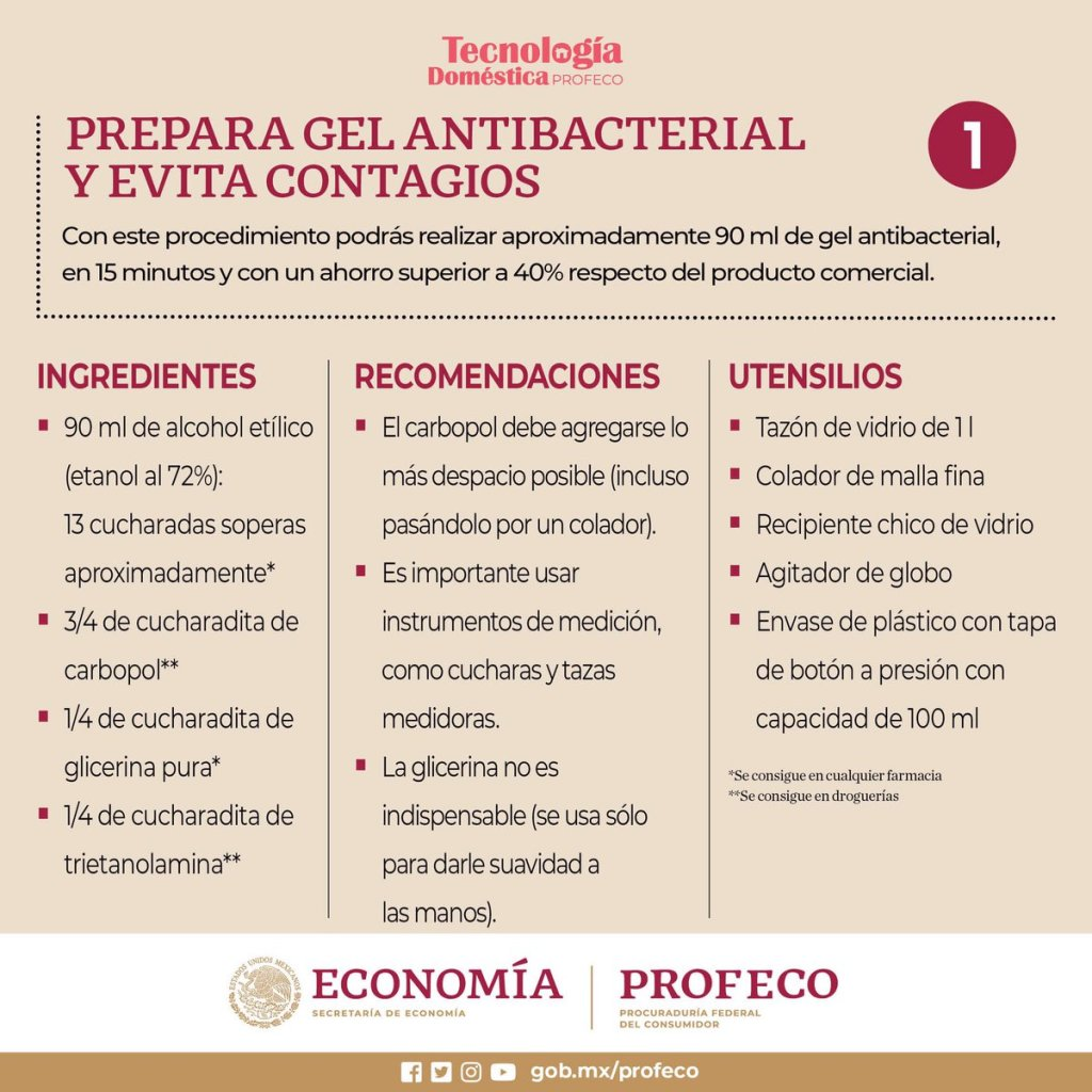 Como hacer gel antibacterial - materiales e ingredientes