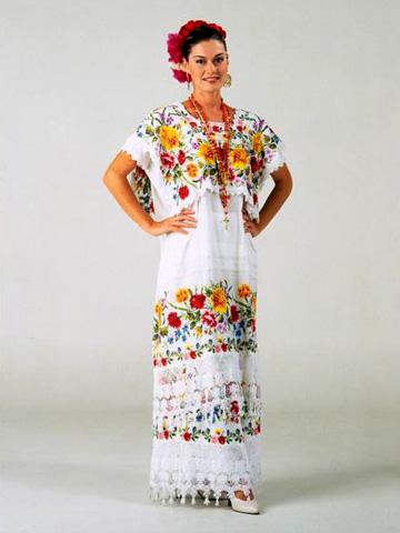 traje tipico de yucatan de mujer