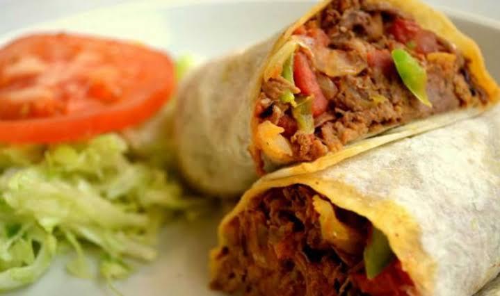 Burritos de Machaca comida de la paz