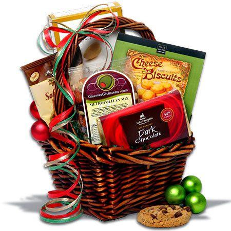 Canasta navideña de chocolate