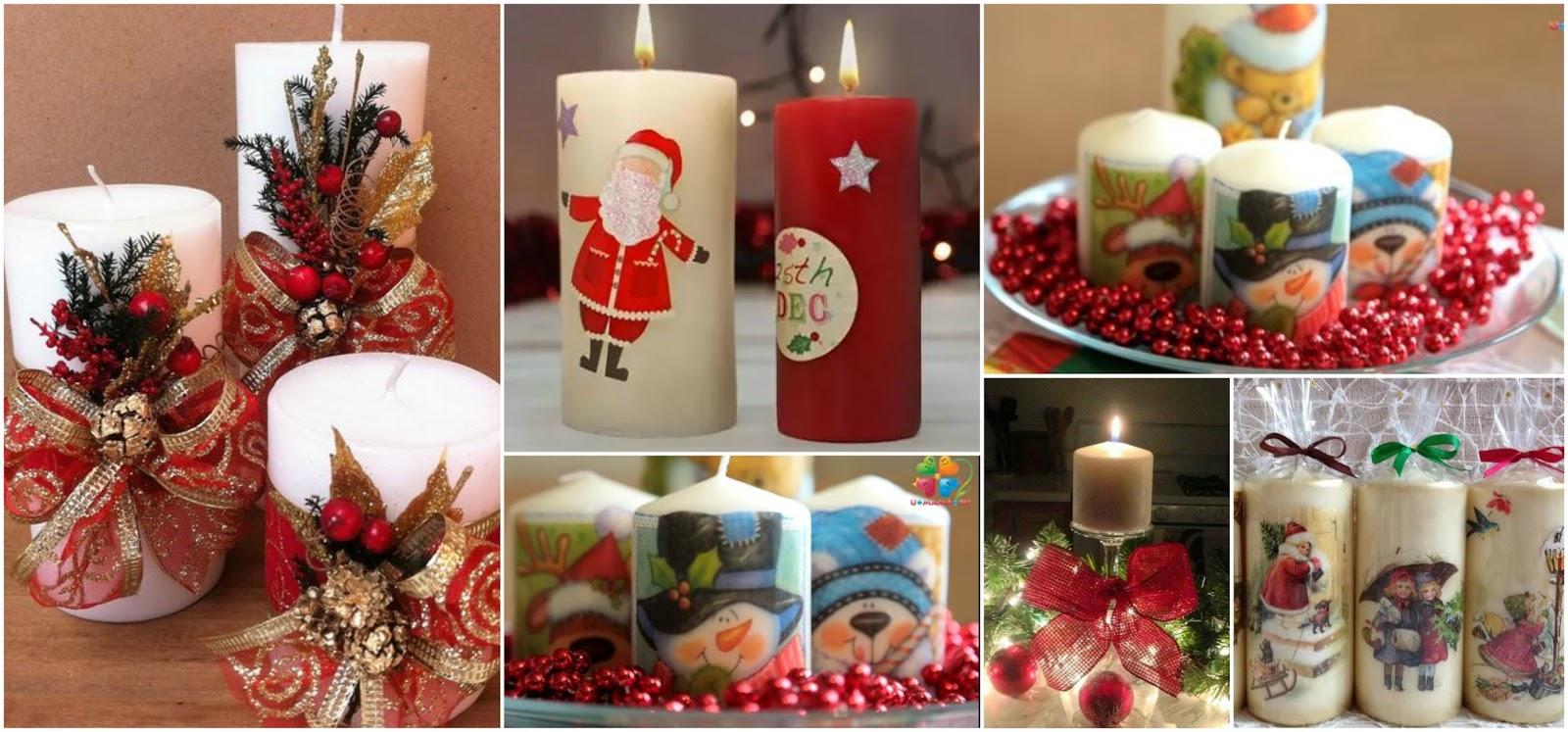 velas para decoracion navideña