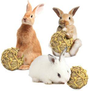 Bola de pasto naturalpara conejos