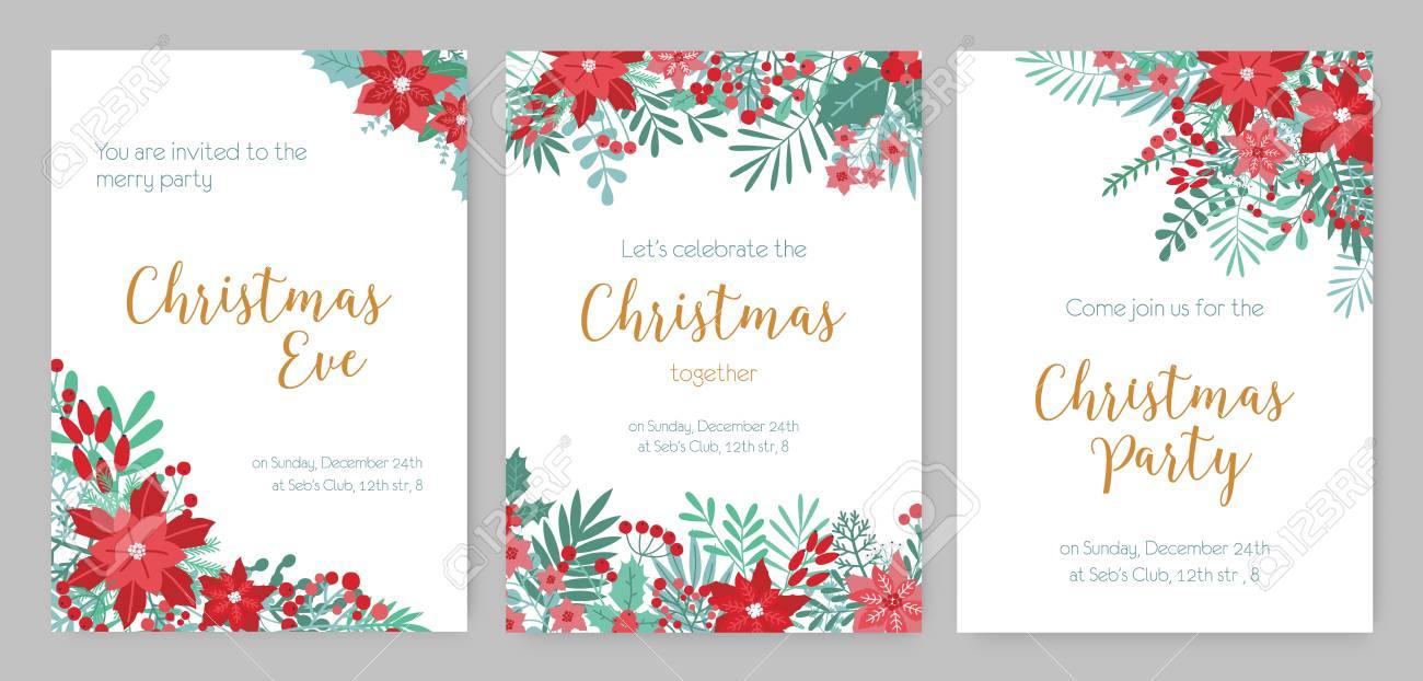 Invitaciones de navidad tradicionales