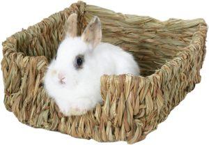 cama para conejo de hierva