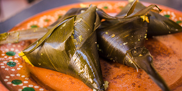 Corundas tamales de la gastronomia de michoacan