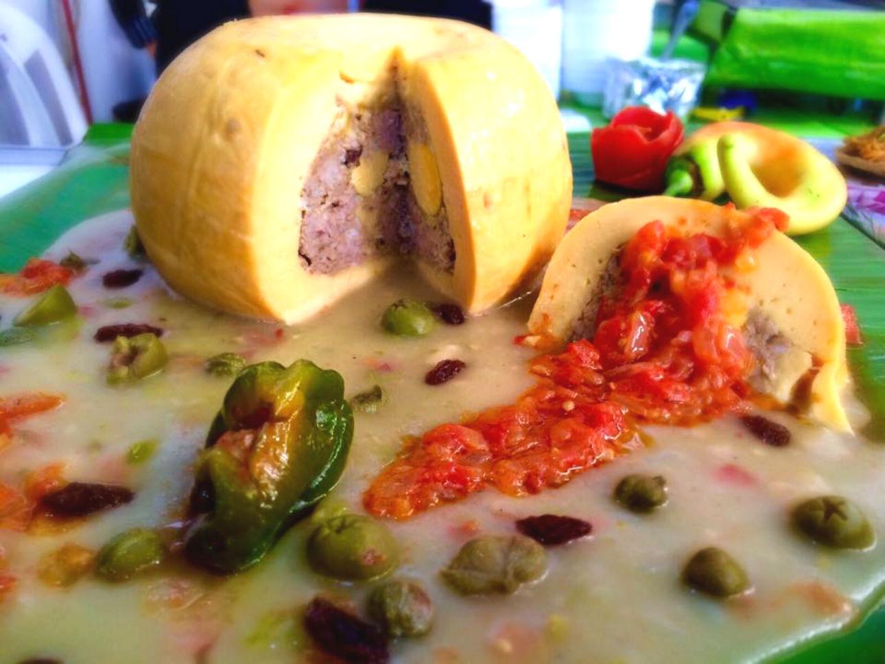 Queso Relleno comida tipica de yucatan