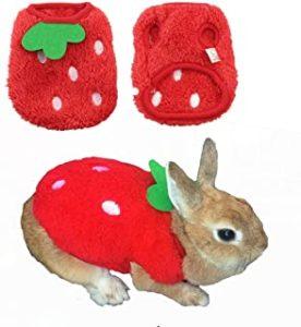 Ropa y disfraz para conejo color rojo