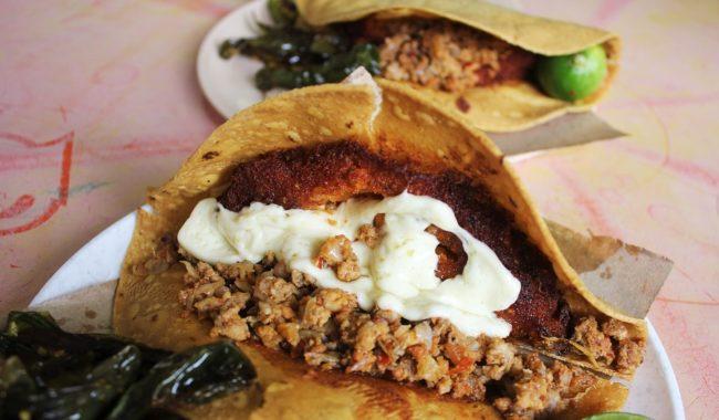 Tacos envenenados de la gastronomia de zacatecas
