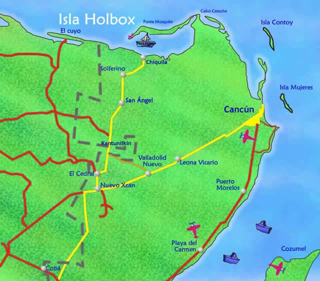 Dónde esta ubicado Holbox