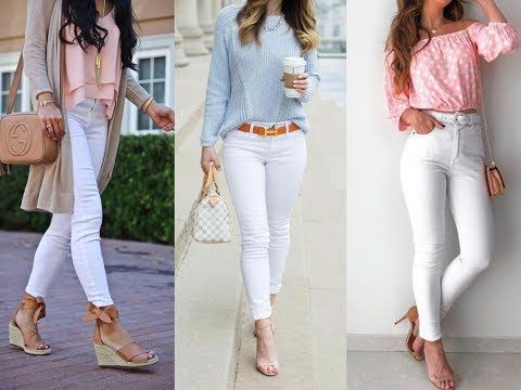 Jeans Blancos outfit ideas