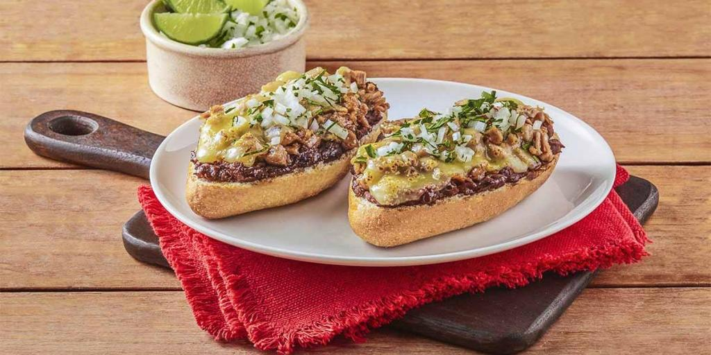 Molletes comidas rapidas mexicanas