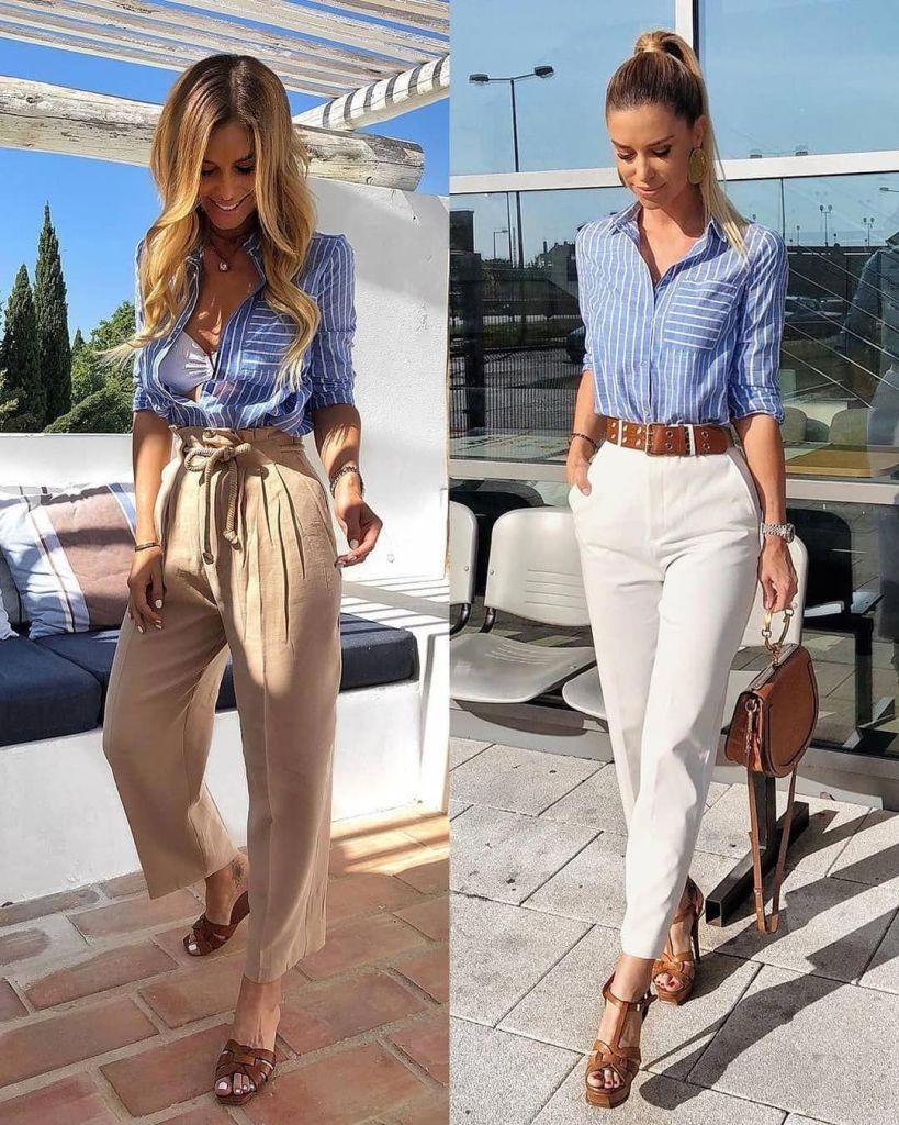 Outfit formal de verano con camisa