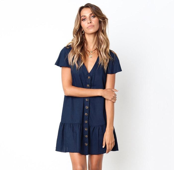 Vestido Tipo Camiseta - mejores vestidos cortos elegantes