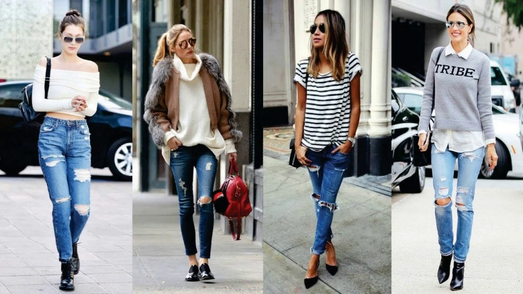 jeans Rasgados outfit