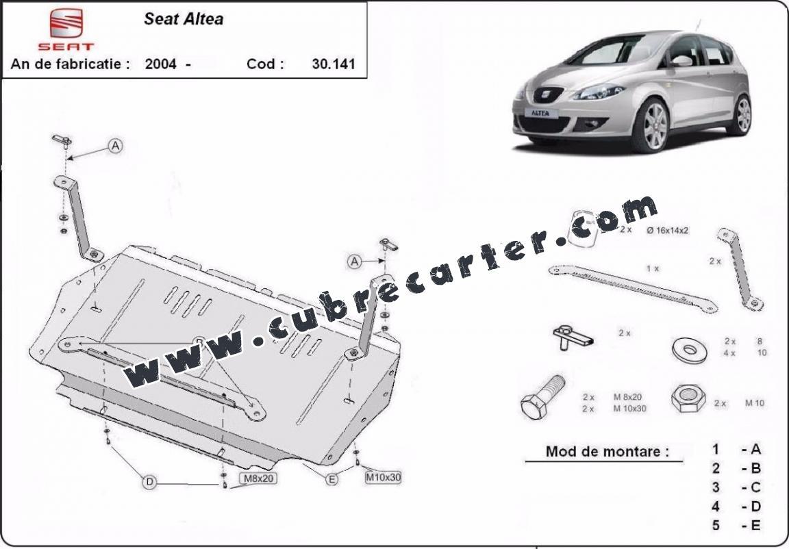 Cubre Carter Metalico Seat Altea