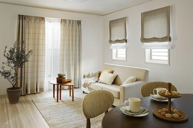 マンションの窓に合うカーテン選び カーテン シェード 組み合わせ