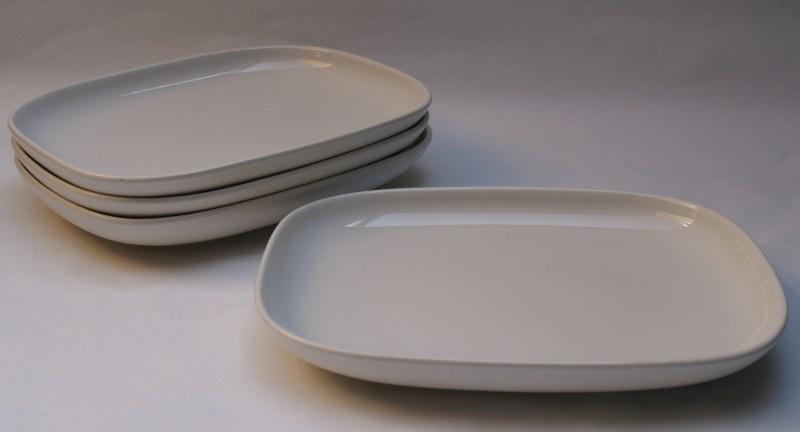 Alessi Dessert Plates Ovale 4 Pcs