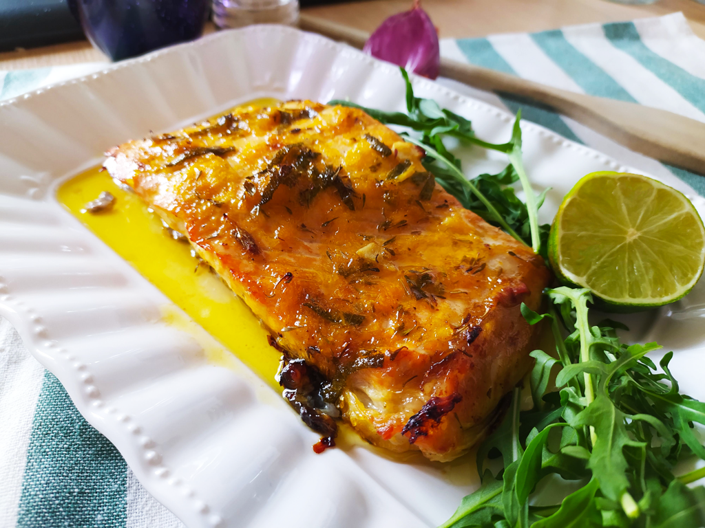 Citrus Marinated Baked Salmon