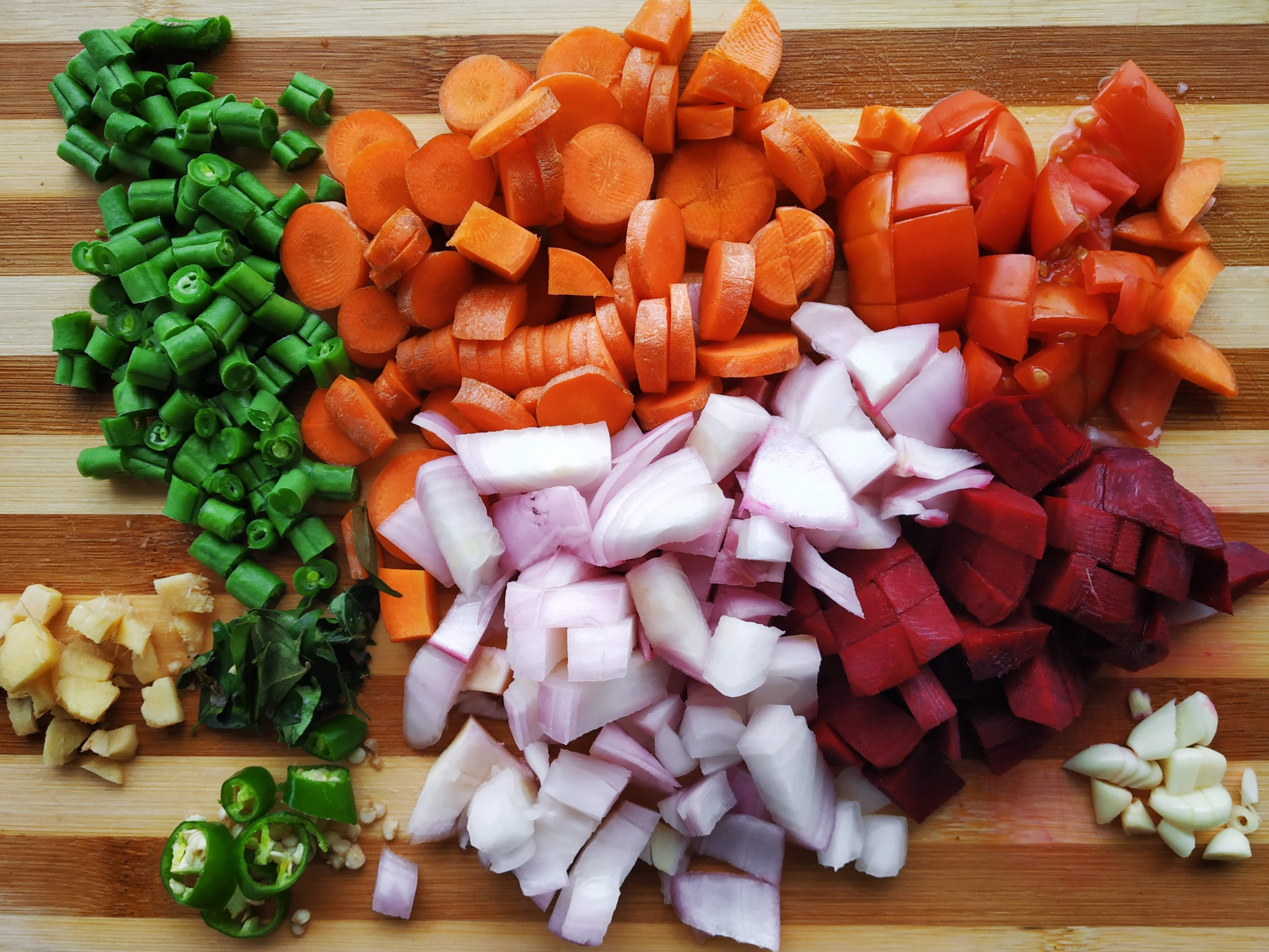 vegetables cutted