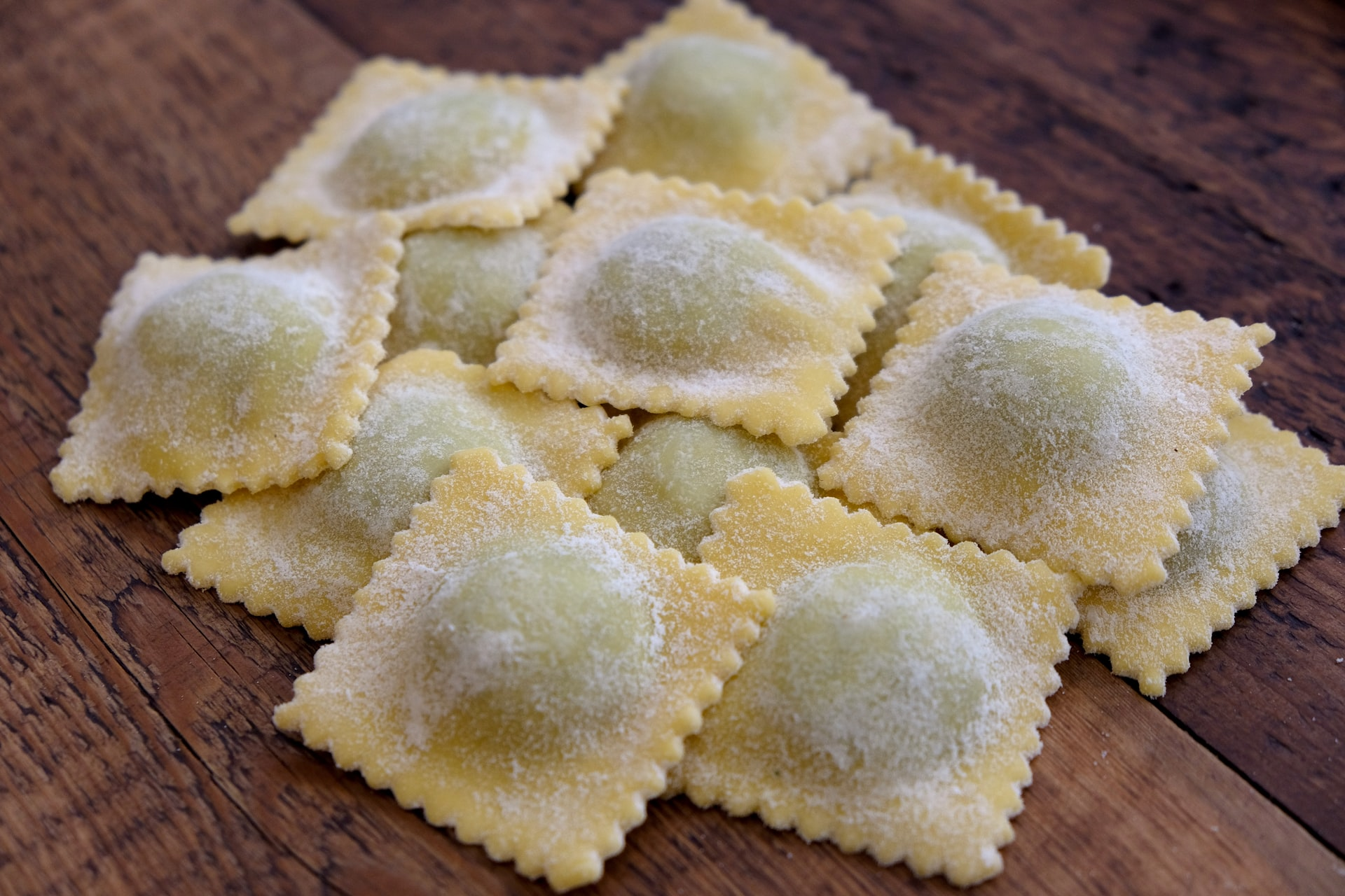 ravioli with ricotta and spinach fillings