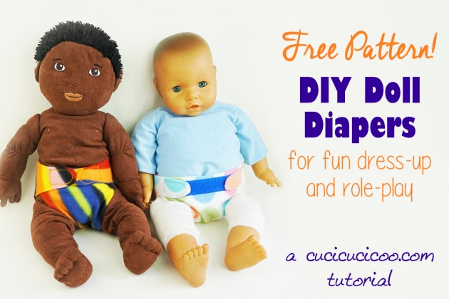 Sewing tutorial: Easy doll diapers with free pattern