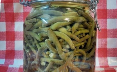 Conserva di fagiolini sott'olio