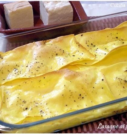 Lasagne ai formaggi ricetta primi piatti