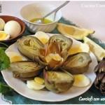 Carciofi con uova sode ricetta secondi