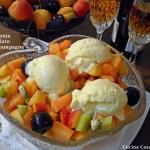 Macedonia con gelato allo Champagne