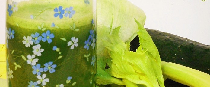 Succo di cetriolo lattuga e sedano