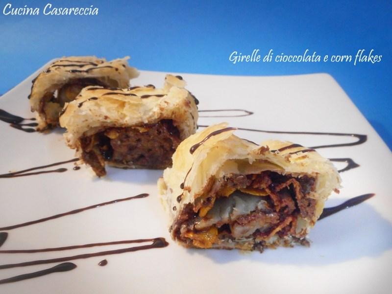 Girelle di cioccolata e corn flakes