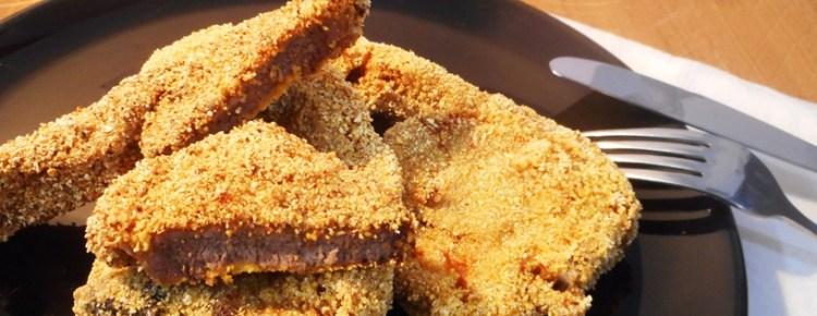 Cotolette d'agnello con farina da polenta